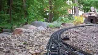 My Deer Haven Garden Railroad Cab Ride (Unedited HD) 2014.