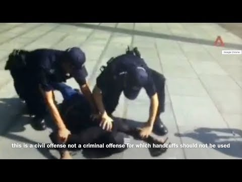 Singapore Police Excessive Force abuse Singaporean citizen flying drone Marina Bay