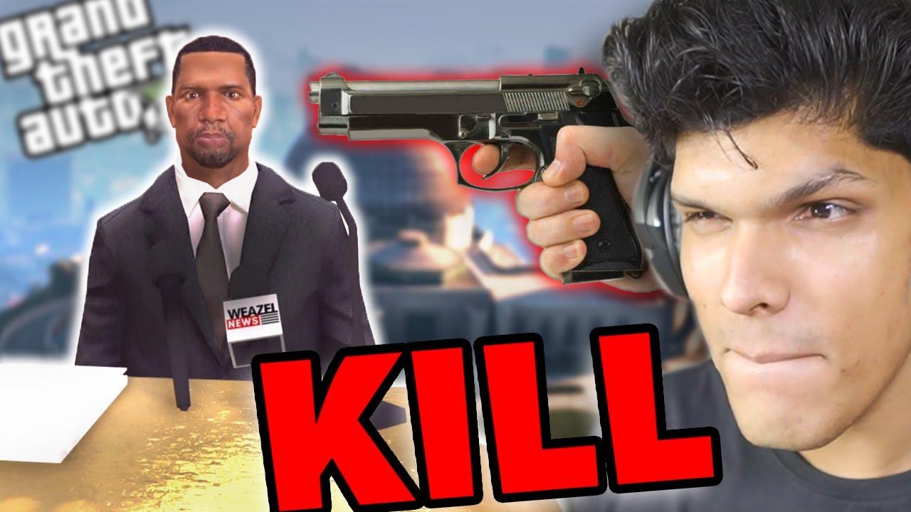 KILLING THE PRESIDENT in GTA 5 [Funny Mod]