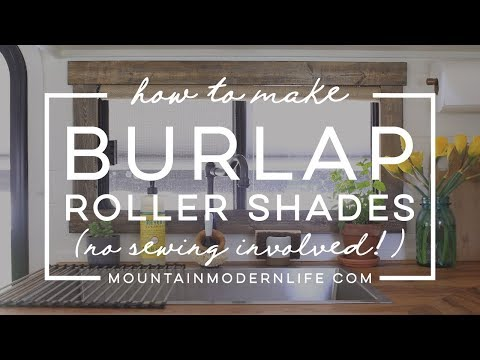 How To Make Burlap Roller Shades (No-Sew!)