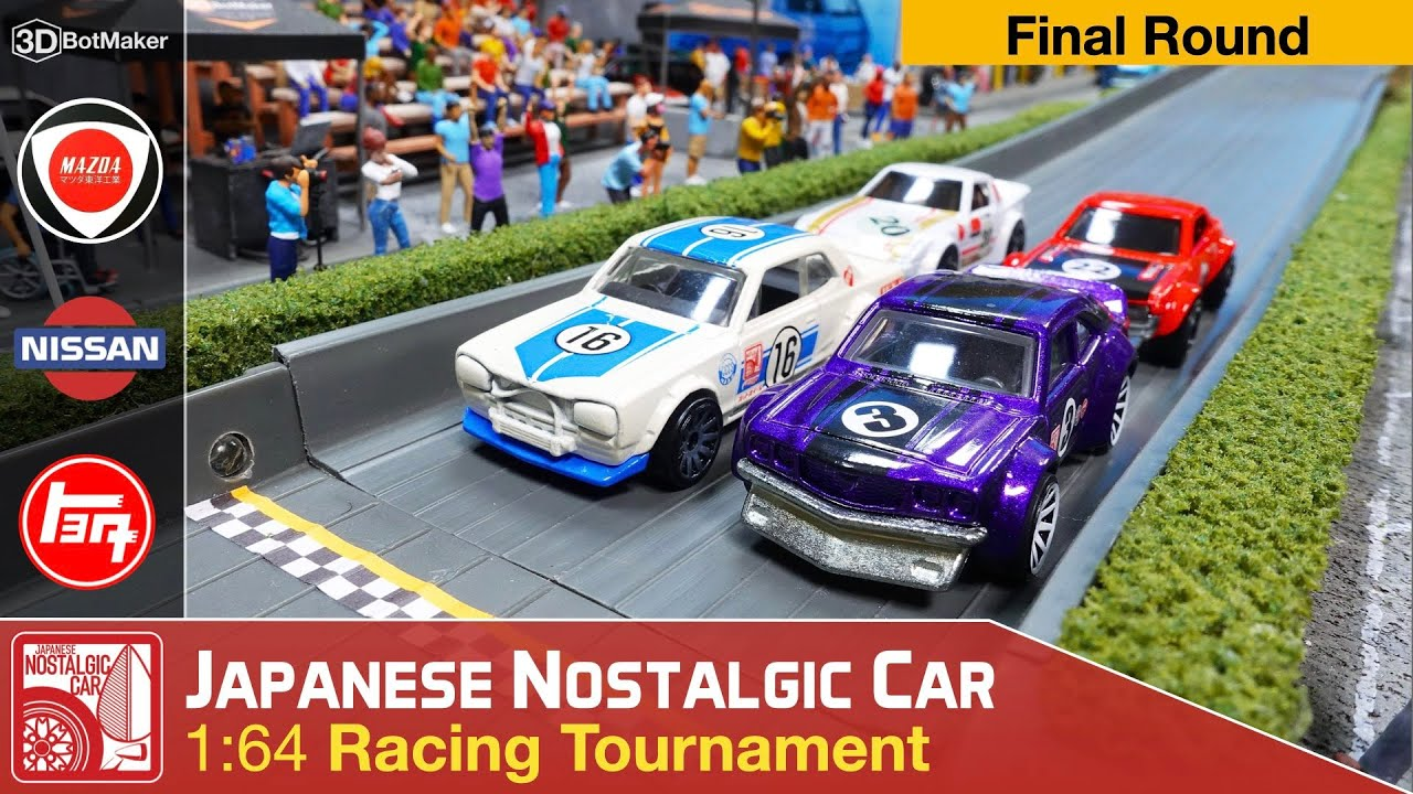 Japanese Nostalgic Car Tournament (Final Round) JDM Diecast Racing