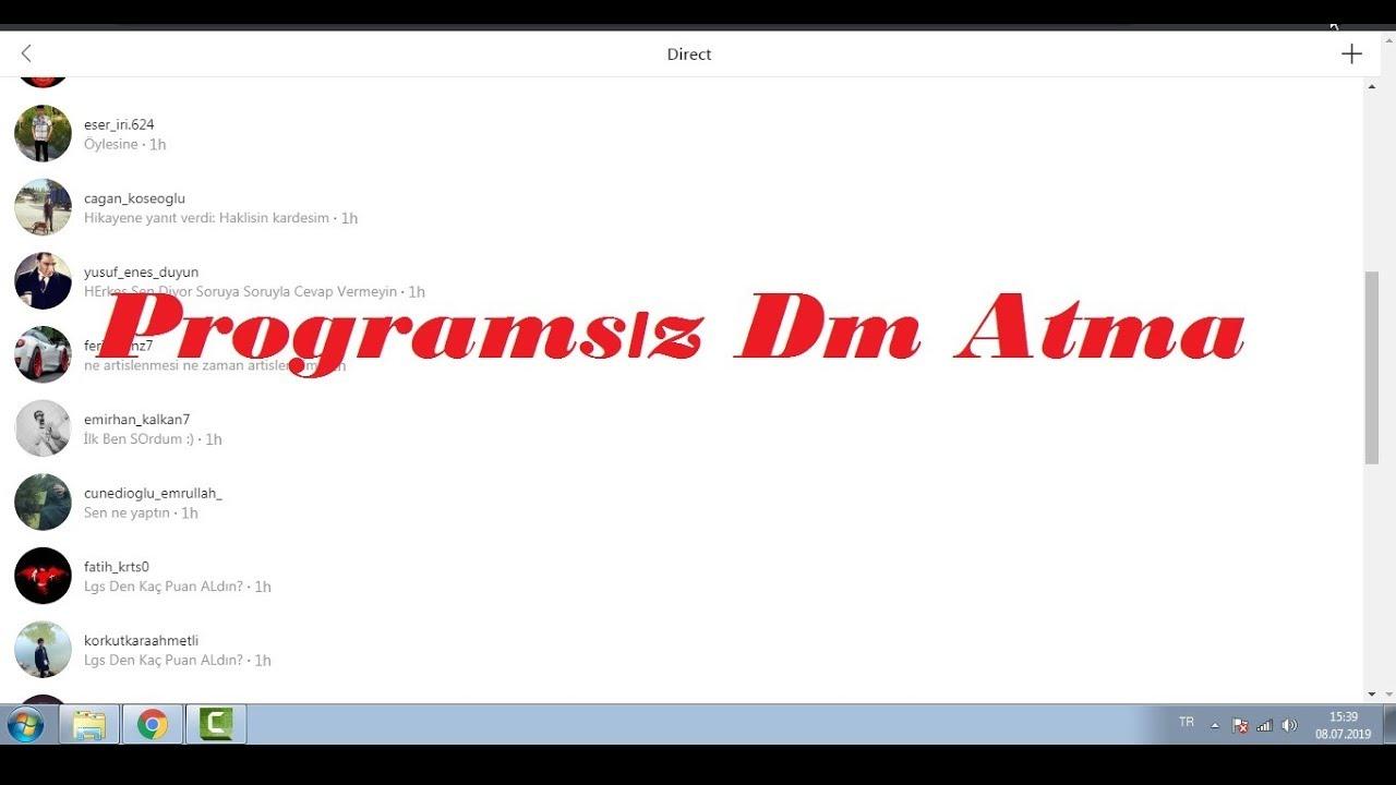 Bilgisayardan İnstagram Dm Atma (Programsız ve Kolay)