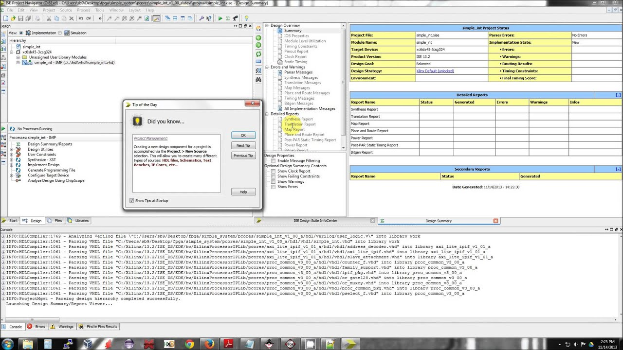 Xilinx - SoC, custom core, interrupts: Part 1 - Hardware setup