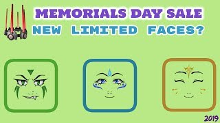 NEUE LIMITED FACES!?? Roblox Memorial Day 2019