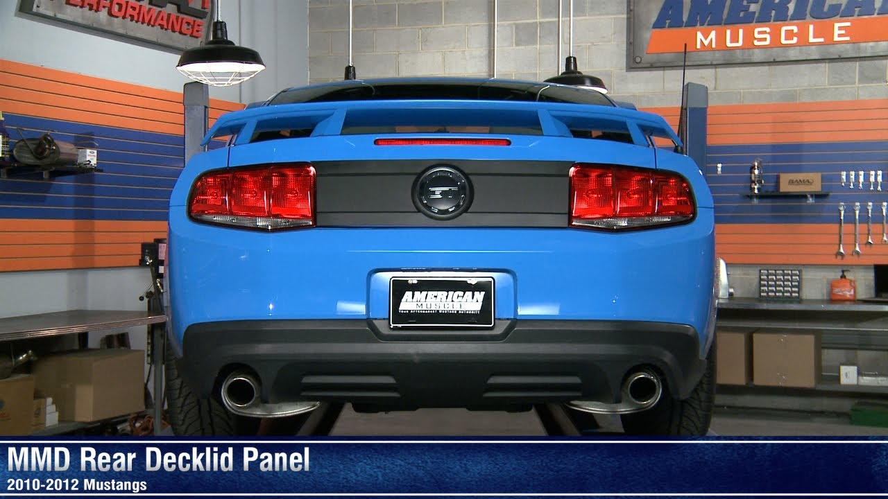 Mustang Mmd Rear Decklid Panel 10 12 All Review Youtube