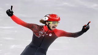 Samuel Girard screamed and scored the No.1 when he crossed the finish line in the Pyeongchang games.