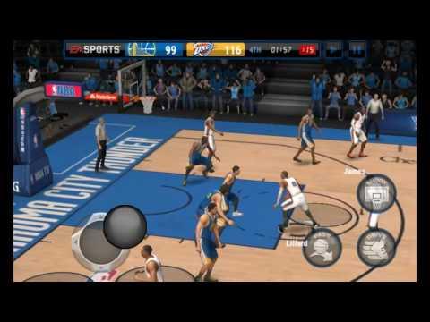 NBA LIVE MOBILE LEBRON HIT 3 FULL COURT SHOT IN ONE QUARTER