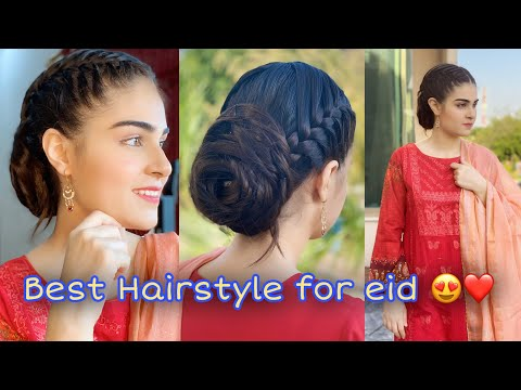 sister-made-my-elegant-hairstyle-😍❤️