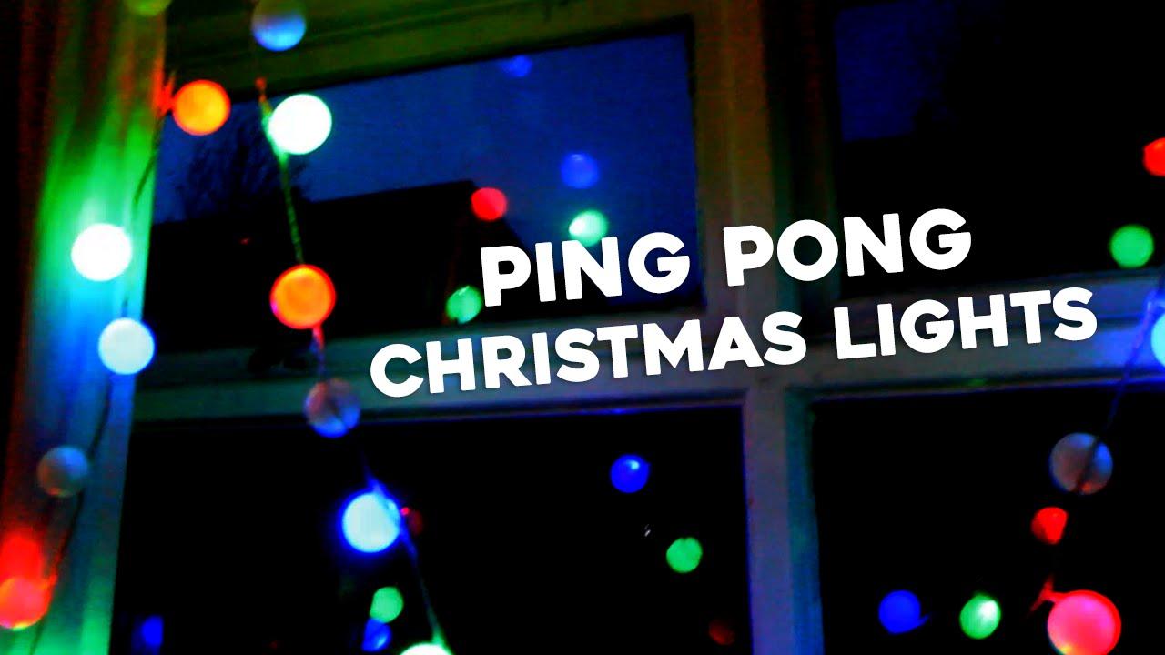 ping pong lighting. DIY Christmas Ping Pong Lights Lighting R