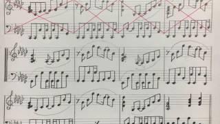 「KAGUYA」のカップリング。 伴奏を耳コピしてみました。 素人作成の手...