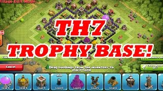 EPIC TH7 TROPHY BASE | SPEED BUILD | Clash Of Clans