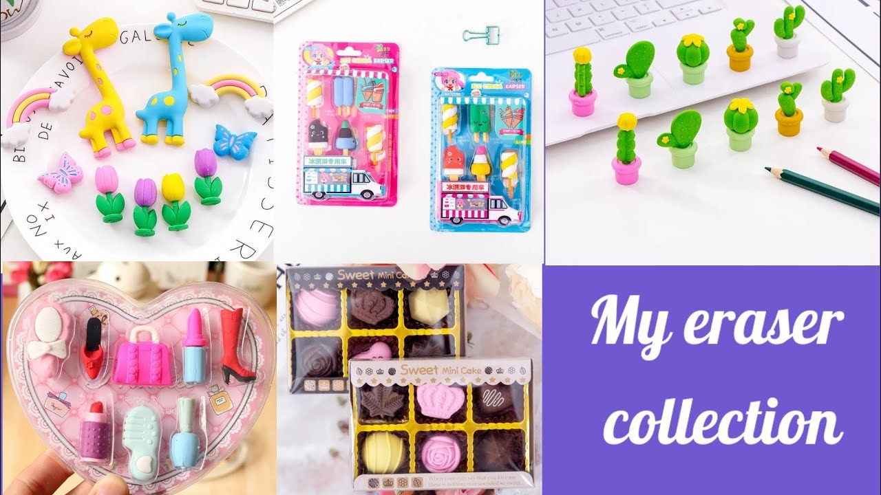 unboxing my cute eraser box / My cute eraser collection /makeup eraser / review video / #Shorts