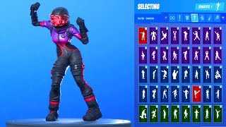 *NEW* Fortnite Corrupted Voyager Skin Showcase with All Dances & Emotes Season 10 Outfit