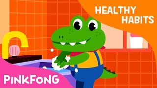 Wash Your Hands   Make bubbles and wash your hands   Healthy Habits   Pinkfong Songs for Children