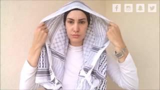 Baixar Hijab lenço (véu islâmico) quadrado 3 diferentes estilos por Fabíola Oliveira