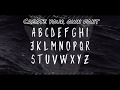 Create a font from handwriting