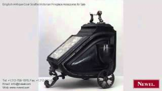 English Antique Coal Scuttle Victorian Fireplace Accessories