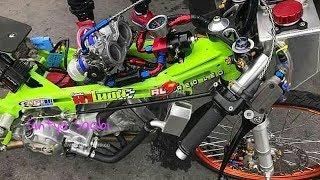 DAHSYAT!! Honda Sonic Mesin Injeksi Turbo 350cc 6,6detik 201m Drag Bike Thailand Tercepat