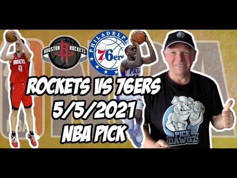 Houston Rockets vs Philadelphia 76ers 5/5/21 Free NBA Pick and Prediction NBA Betting Tips