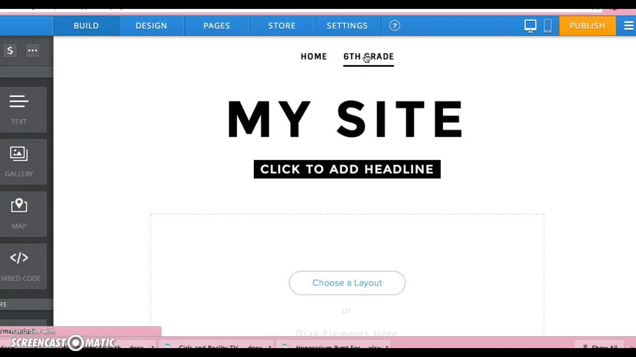 Weebly 2: Making Pages & Subpages