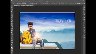 Traveler PSD - Photoshop Manipulation Tutorial For Fresher/Beginners