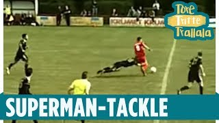 Wie in der NFL: Superman-Tackle in der Oberliga | Tore, Tritte, Trallala