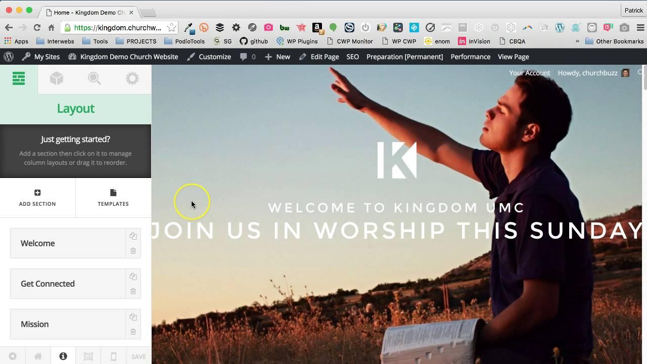 Kingdom Church Website Template Quick Intro Youtube