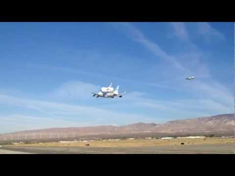 Space Shuttle Endeavor Fly By at Mojave Airport