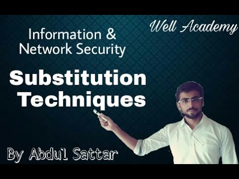 Information & Network Security Lecture - - Substitution Techniques (Eng-Hindi)