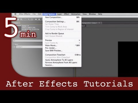 After Effects Tutorial: Understanding The Interface In After Effects Lesson