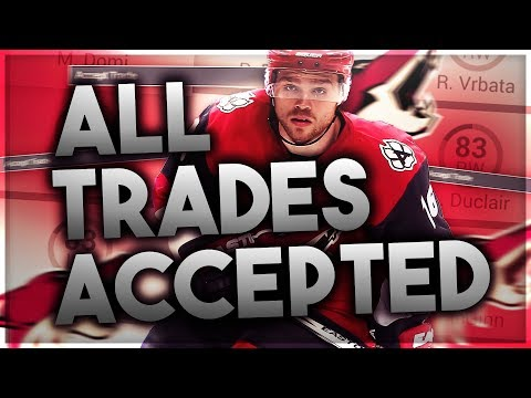 ACCEPTING ALL TRADES WITH THE ARIZONA COYOTES! (NHL 17 FRANCHISE MODE CHALLENGE)