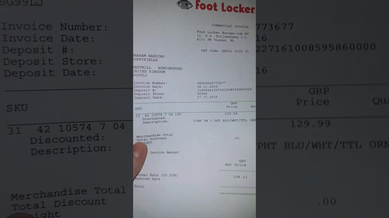 new nike tns from footlocker with receipt not fakes youtube