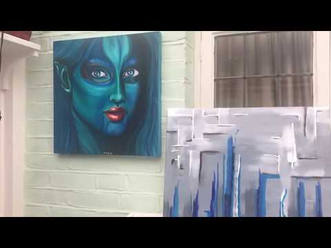 41 - Epoxy Resin & Acrylic Art - Abstract with a twist - 5 Day Resin Art Project - Fluid art