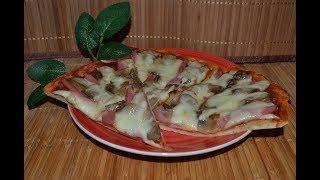 БОМБЕЗНО вкусная Пицца с грибами и колбасой