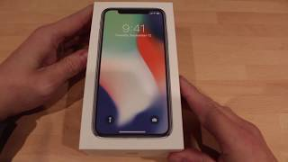 iPhone x 64GB in Silver Unboxing UK