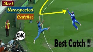 Top 10 Most Unexpected Catches in Cricket History | Acrobatic Catches in Cricket thumbnail