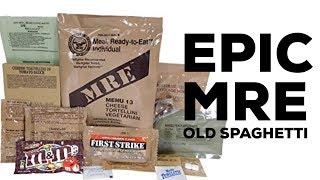 EATING 5 YEAR OLD SPAGHETTI!!! [MRE Taste Test]