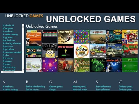 Unblocked Games at School - Play Online