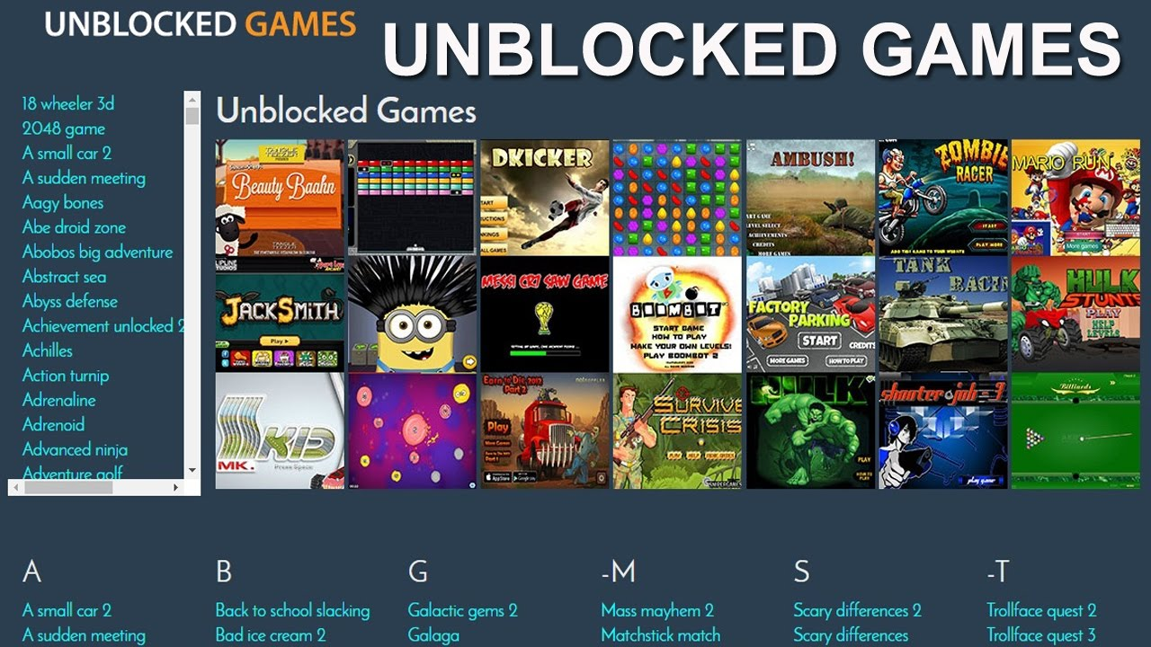 Unblocked Games At School Play Online Youtube