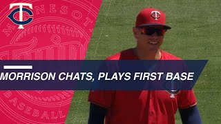 Logan Morrison chats with broadcast from first