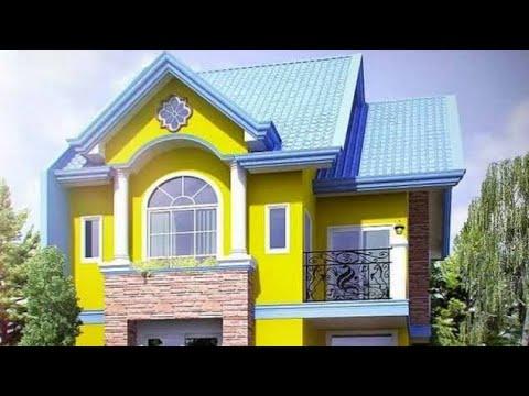 model contoh warna cat rumah minimalis nuansa terang yang ...