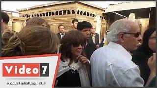 أميرة العايدى طليقة وائل نور تشارك فى جنازته إلى جوار زوجته الجديدة