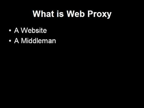 What Is Web Proxy?