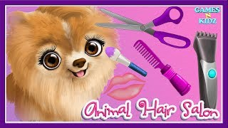 Fun Animal Care - Learn Animal Makeover Care, Hair Salon, Makeup - Animal Hair Salon Kids Games