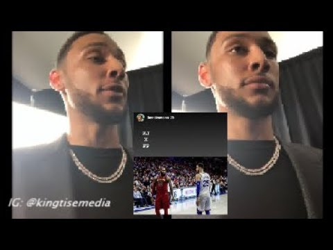Ben Simmons Recruits LeBron James To 76ers After LeBron Opts Out Of Cavs Contract To Free Agency