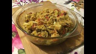 Курица (индейка) с овощами