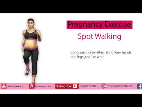 Pregnancy Exercise: Spot Walking | Pregnancy Exercise for Labor and Delivery | Mummy Center