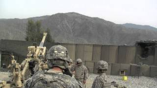 M777 Howitzer Direct Fire Low Charge Bravo Battery 3-321 HD Video 1