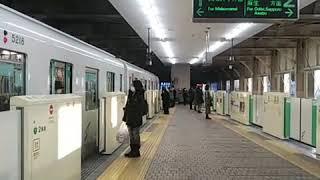 [ツイキャス] 札幌市営地下鉄南北線5000形  518号車  502号車  南平岸  入線 発車 (2021.01.06)
