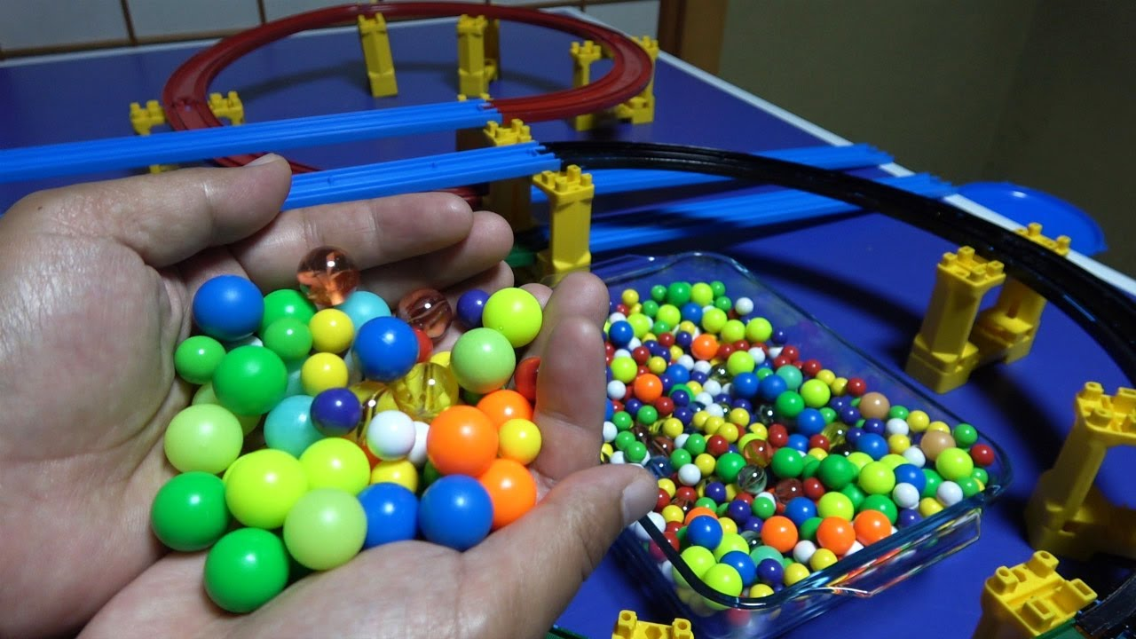 Colorful Ball Marble Run [Plarail & Colorful Slope] #41